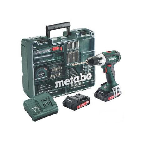 Metabo Aku vrtačka BS 18 mobilní dílna 2x2,0 Ah 602207880
