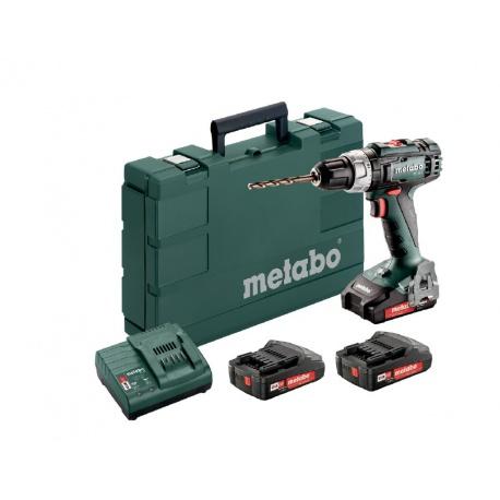 Metabo BS 18 L Set Akumulátorový vrtací šroubovák 18 V, 3x2,0 Ah 602321540